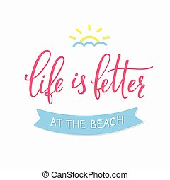 nyár, tengerpart, nyomdászat, felirat