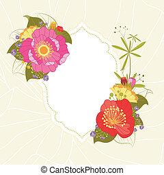 nyár, virág kert, színes, eredet, háttér, fél