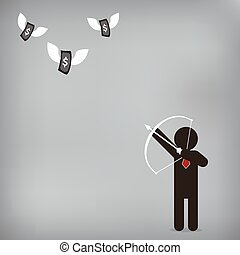 nyíl, pénz, ügy