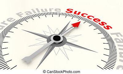 nyíl, szó, hegyezés, siker, iránytű