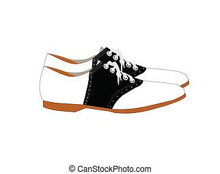 nyereg, cipők