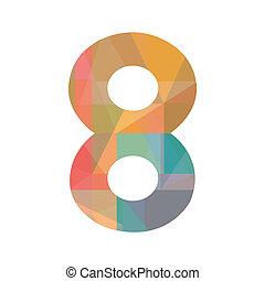 nyolc, szám, színes