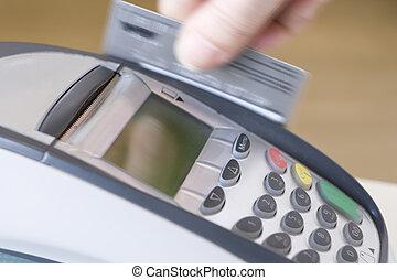 nyomókar, hitelkártya