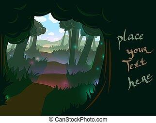 nyom, erdő, háttér