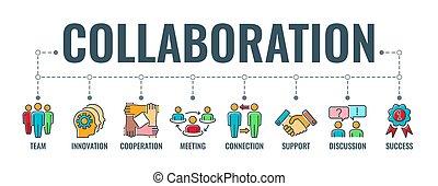 nyomdászat, együttműködés, csapatmunka, transzparens