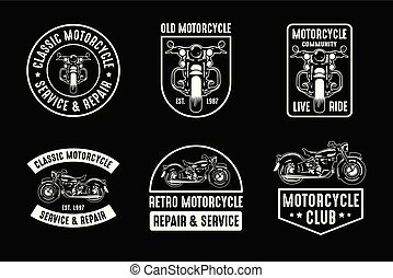 nyomtat, jó, jelvény, motorkerékpár, jel