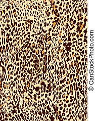 nyomtat, leopárd, állat, háttér
