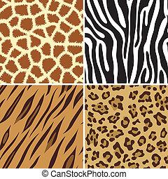 nyomtat, seamless, állat