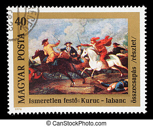 nyomtatott, bélyeg, magyarország