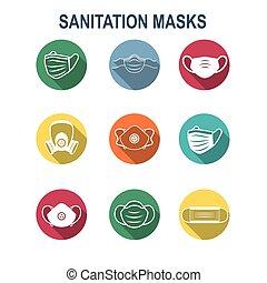 nyugat, maszk, légzési, ppe, facemask, ikon, arc, közegészségügy, oltalom, állhatatos
