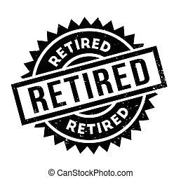 nyugdíjas, bélyeg, gumi