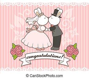 nyuszi, esküvő