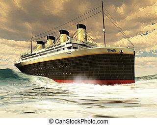 ocean-liner, óriási