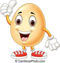 odaad, tojás, feláll, lapozgat, karikatúra