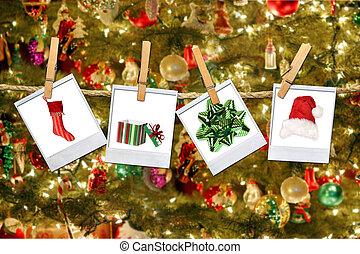 odaköt, arcmás, karácsony, kapcsolódó, függő