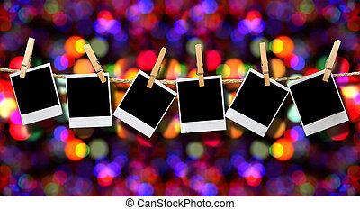 odaköt, fénykép, ünnep, háttér, függő