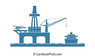 offshore platform, olaj
