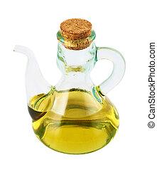 olajbogyó, pohár, olaj, elszigetelt, edény