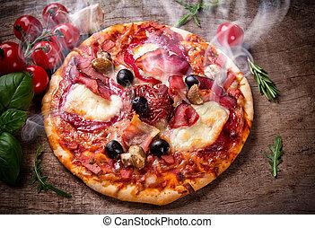 olasz, finom, pizza