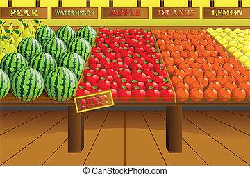 oldalhajó, élelmiszerbolt, létrehoz, bolt