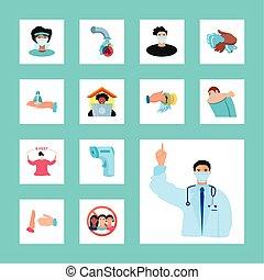 oltalmazó, covid, lépés, coronavirus, új, alapvető, megelőzés, ellen, 19