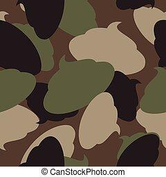 oltalmazó, shit., hadsereg, motívum, pattern., seamless, álcáz, katona, vektor, struktúra, turd., hadi