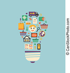 online bevásárlás, gondolat, újítás