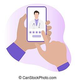 online, healthcare, értékelés, szolgáltatás, orvos, orvosi