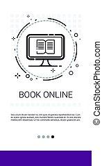 online library, könyv, internet, felolvasás, transzparens