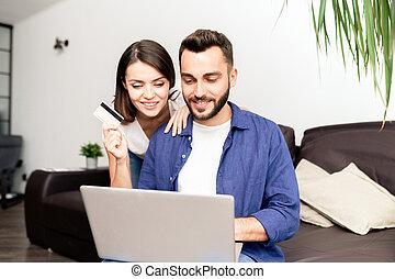 online, párosít, saját bevásárlás