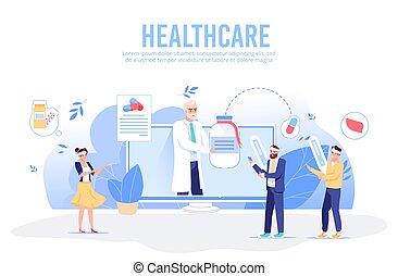 online, szolgáltatás, konzultáció, healthcare, orvosi