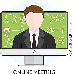 online találkozó, fogalom