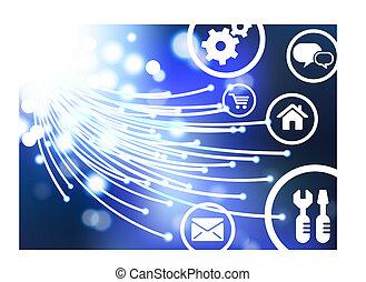 online, vektor, ai8, háttér, gombok, látási, rost, összeegyeztethető, eredeti, illustration:, kábel, ikonok, internet