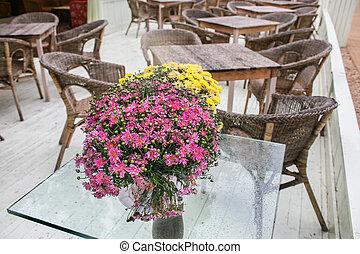 open-air, kávéház