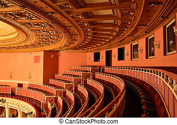 opera épület, ültetés, belső, -