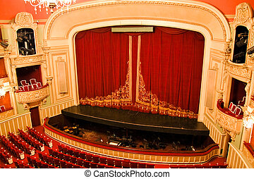 opera épület, belső, -, fokozat