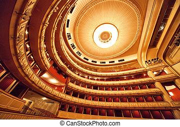 opera, belső, bécs