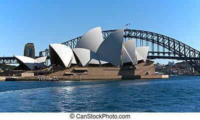 opera, bridzs, ausztrália, sydney, épület