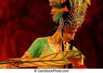 opera, kína, rajongó, hercegnő, vas