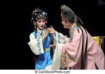 opera, meglehetősen, kínai, színésznő