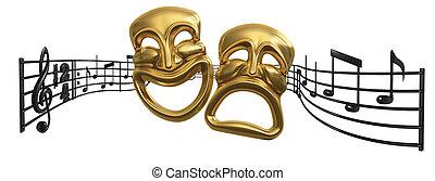 opera, zenés, színház