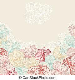 orchid., virág, elvont, seamless, finomság, háttér