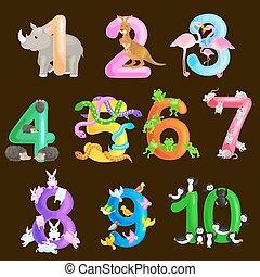 ordinal, tehetség, állhatatos, állatok, ábécé, abc, ábra, izbogis, gyűjtés, vagy, óvoda, összeg, előjegyez, vektor, számok, plakátok, alapvető, tanítás, számolás, gyerekek, hisz