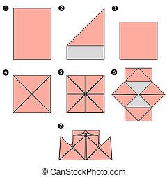 origami, jottányi, tervezés, épít, csónakázik