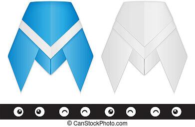 origami, kabóca, felszerelés, alkotás