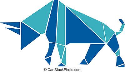 origami, mód, bika
