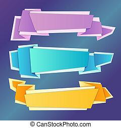origami, szalagcímek, állhatatos