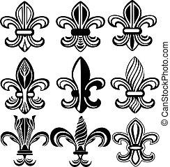 orleans, jelkép, lis, fleur, új, ellen-
