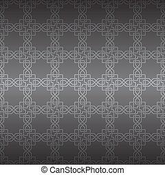 ornament., vektor, seamless, geometriai