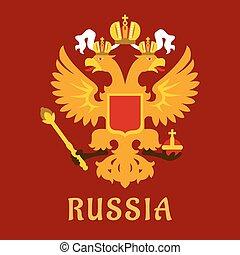 orosz, lakás, doubleheaded, császári, sas
